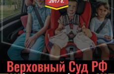 Верховный Суд РФ об обязательности детского автомобильного кресла
